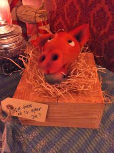 Cafébuffe jul marsipangris Märtas mat och catering